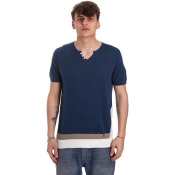 Oblečenie Muži Tričká s krátkym rukávom Gaudi 011BU53021 Modrá