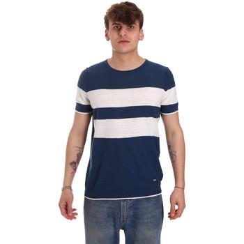 Oblečenie Muži Tričká s krátkym rukávom Gaudi 011BU53023 Modrá