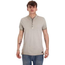 Oblečenie Muži Polokošele s krátkym rukávom Gaudi 011BU64018 Béžová