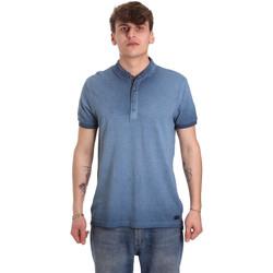 Oblečenie Muži Polokošele s krátkym rukávom Gaudi 011BU64018 Modrá