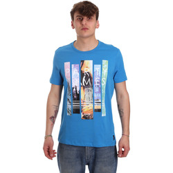 Oblečenie Muži Tričká s krátkym rukávom Gaudi 011BU64028 Modrá