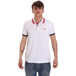 Oblečenie Muži Polokošele s krátkym rukávom Gaudi 011BU64043 Biely