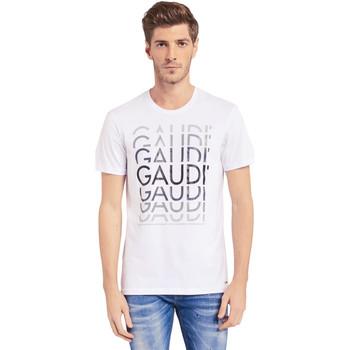 Oblečenie Muži Tričká s krátkym rukávom Gaudi 011BU64068 Biely