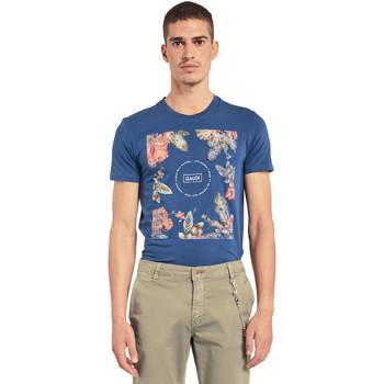 Oblečenie Muži Tričká s krátkym rukávom Gaudi 011BU64070 Modrá