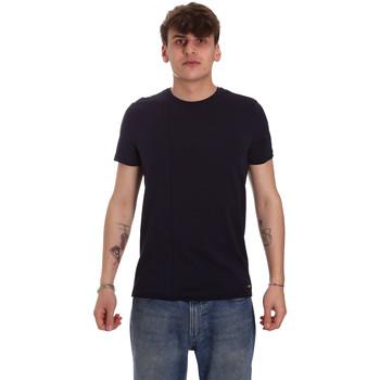 Oblečenie Muži Tričká s krátkym rukávom Gaudi 011BU64093 Modrá