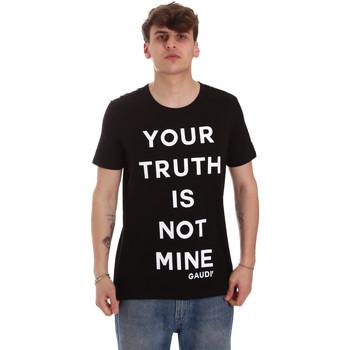 Oblečenie Muži Tričká s krátkym rukávom Gaudi 011BU64107 čierna