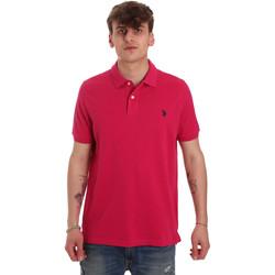 Oblečenie Muži Polokošele s krátkym rukávom U.S Polo Assn. 55957 41029 Ružová