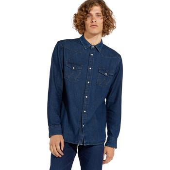 Oblečenie Muži Košele s dlhým rukávom Wrangler W5MSLW301 Modrá