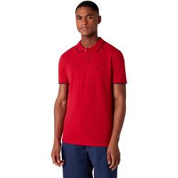 Oblečenie Muži Polokošele s krátkym rukávom Wrangler W7D5K4X47 Červená