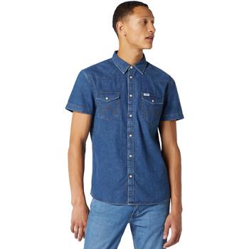 Oblečenie Muži Košele s krátkym rukávom Wrangler W5J05D50B Modrá