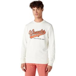 Oblečenie Muži Mikiny Wrangler W6A5HA737 Biely