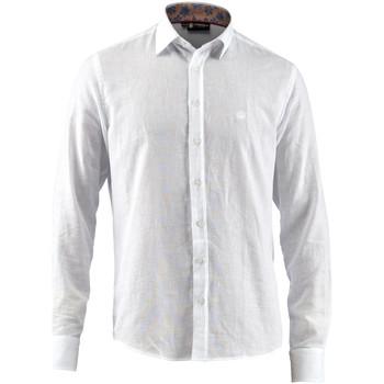 Oblečenie Muži Košele s dlhým rukávom Lumberjack CM80846 001 603 Biely