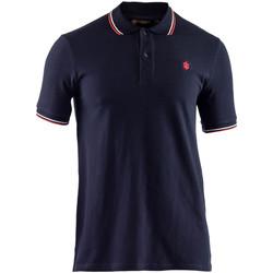 Oblečenie Muži Polokošele s krátkym rukávom Lumberjack CM45940 009 506 Modrá