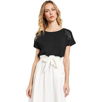 Oblečenie Ženy Tričká s krátkym rukávom Gaudi 011FD64022 čierna