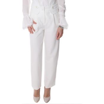 Oblečenie Ženy Nohavice Chinos a Carrot Fracomina FR20SP164 Biely