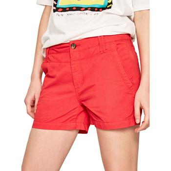 Oblečenie Ženy Šortky a bermudy Pepe jeans PL800695 Červená