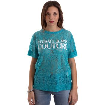 Oblečenie Ženy Tričká s krátkym rukávom Versace B2HVB70804748207 Modrá
