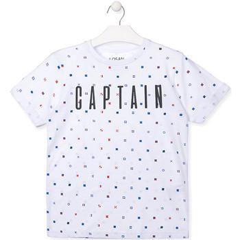 Oblečenie Chlapci Tričká s krátkym rukávom Losan 013-1001AL Biely