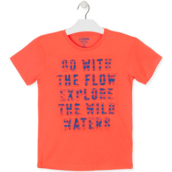 Oblečenie Chlapci Tričká s krátkym rukávom Losan 013-1005AL Oranžová