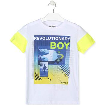 Oblečenie Chlapci Tričká s krátkym rukávom Losan 013-1006AL Biely