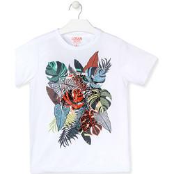 Oblečenie Chlapci Tričká s krátkym rukávom Losan 013-1010AL Biely