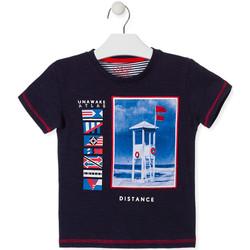 Oblečenie Deti Tričká s krátkym rukávom Losan 015-1001AL Modrá