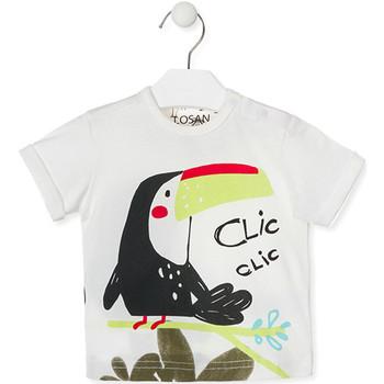 Oblečenie Deti Tričká s krátkym rukávom Losan 017-1012AL Biely