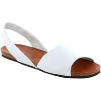Topánky Ženy Sandále Grunland SB1623 Biely