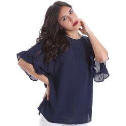 Oblečenie Ženy Blúzky Gaudi 011BD45015 Modrá