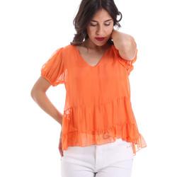 Oblečenie Ženy Blúzky Gaudi 011BD45034 Oranžová
