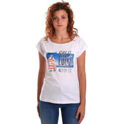 Oblečenie Ženy Tričká s krátkym rukávom Key Up 5D72S 0001 Biely