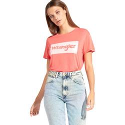 Oblečenie Ženy Tričká s krátkym rukávom Wrangler W7016D Červená