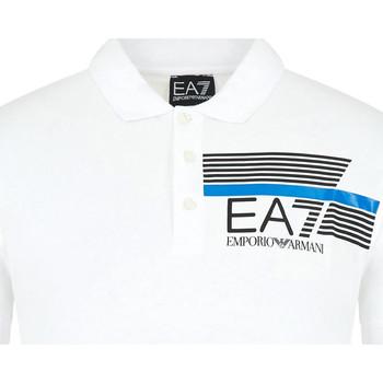 Oblečenie Muži Polokošele s krátkym rukávom Ea7 Emporio Armani 3HPF17 PJ02Z Biely