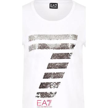 Oblečenie Ženy Tričká s krátkym rukávom Ea7 Emporio Armani 3HTT41 TJ12Z Biely