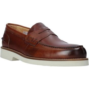 Topánky Muži Mokasíny Exton 2102 Hnedá