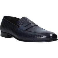 Topánky Muži Mokasíny Exton 1021 Modrá