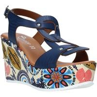 Topánky Ženy Sandále Grace Shoes 09 Modrá
