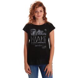 Oblečenie Ženy Tričká s krátkym rukávom Key Up 5Z10S 0001 čierna
