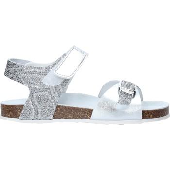 Topánky Dievčatá Sandále Grunland SB1501 Striebro