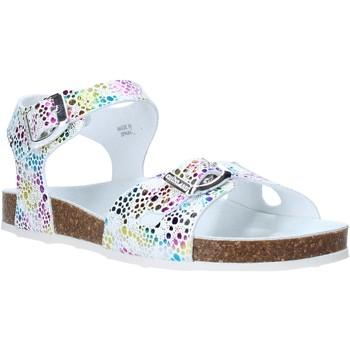 Topánky Dievčatá Sandále Grunland SB1502 Biely