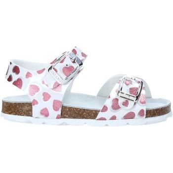 Topánky Dievčatá Sandále Grunland SB1535 Biely