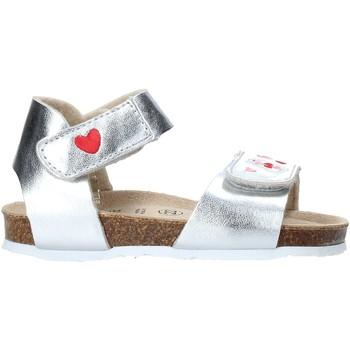 Topánky Dievčatá Sandále Grunland SB1546 Striebro