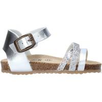 Topánky Dievčatá Sandále Grunland SB1544 Striebro