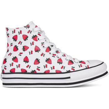 Topánky Dievčatá Členkové tenisky Converse 668016C Biely