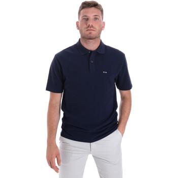 Oblečenie Muži Polokošele s krátkym rukávom Les Copains 9U9023 Modrá