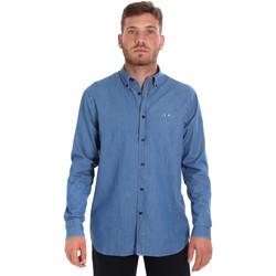 Oblečenie Muži Košele s dlhým rukávom Les Copains 9U2361 Modrá