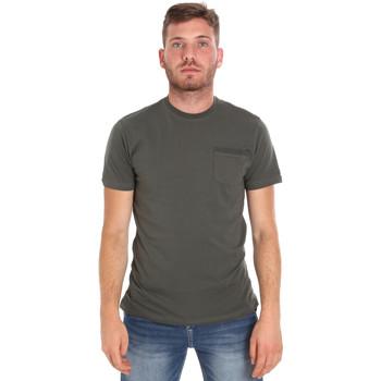 Oblečenie Muži Tričká s krátkym rukávom Les Copains 9U9010 Zelená