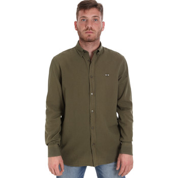 Oblečenie Muži Košele s dlhým rukávom Les Copains 9U2371 Zelená