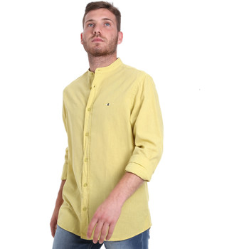 Oblečenie Muži Košele s dlhým rukávom Les Copains 9U2722 Zelená