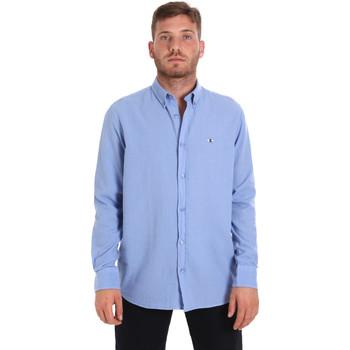 Oblečenie Muži Košele s dlhým rukávom Les Copains 9U2371 Modrá